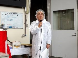 2017年8月29日(火) たじま市場管内枝肉共励会 セリ前 JAたじま・友田代表理事専務あいさつ