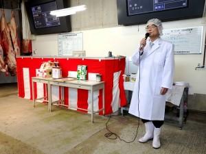 2018年1月9日(火)平成30年初せり 加古川市産業経済部 松本部長あいさつ