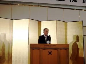 2019年3月3日(日) 神戸肉流通推進協議会設立35周年記念神戸肉枝肉共励会 祝賀会 神戸肉流通推進協議会・森会長あいさつ