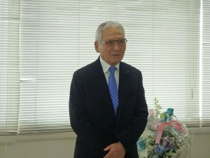2019年3月27日(水) HACCP基準開始届提出 (公財)加古川食肉公社・松岡理事長あいさつ