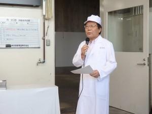 2019年9月10日(火) 令和神戸牛志会枝肉共励会 セリ前 令和神戸牛志会・神澤会長あいさつ