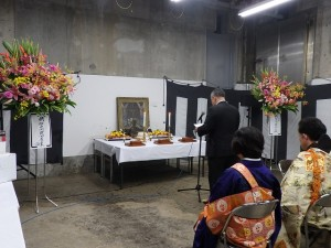 2019年10月19日(土) 加古川食肉センター畜魂祭 祭文 兵庫県食肉事業協同組合連合会代表者