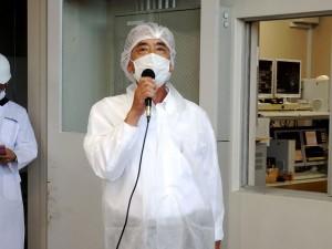 2020年9月8日(火) 令和神戸牛志会枝肉共励会 セリ前 令和神戸牛志会事務局・JA兵庫南 北川営農経済部長あいさつ